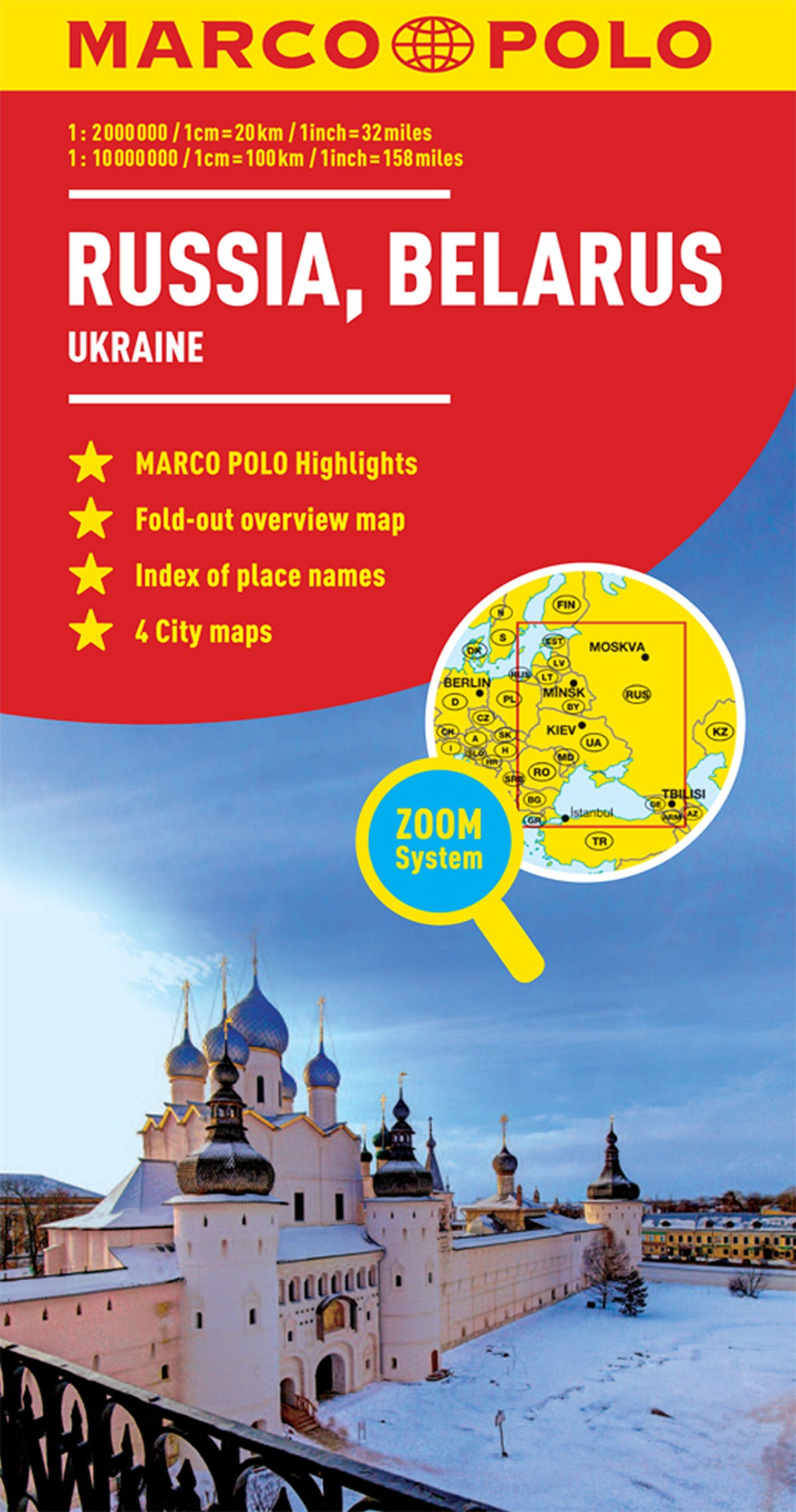 Russia, Belarus Marco Polo Map (Ukraine) (Marco Polo Maps)
