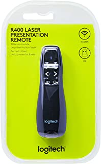 Logitech Wireless Presenter R400, Wireless Presentation Remote Clicker with Laser Pointer