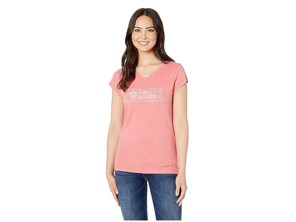 Fjallraven Logo Stamp T-Shirt (Peach Pink) Women