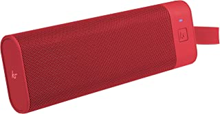KitSound BoomBar+ Portable Wireless Speaker with Hands-Free Call Function and Carry Pouch, Red