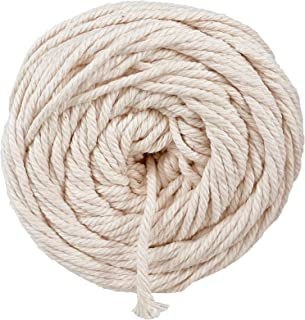 Natural Macrame Supplies Twisted Cotton Cord 656ft Macrame Rope Macrame Twine 5mm 200m Cotton Cord Craft White Rope Cotton String