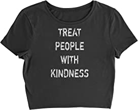 Expression Tees Treat People with Kindness Womens Cropped T-Shirt