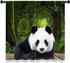 Panda Gordijn, Aziatische Chinese Wild Animal Bear Geïsoleerde Gordijn Kamer Versieren Raamgordijnen 2 panel set W 63 l 63