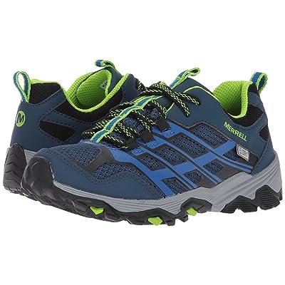 Merrell Kids Moab FST Low Waterproof (Little Kid) (Navy/Blue) Girls Shoes