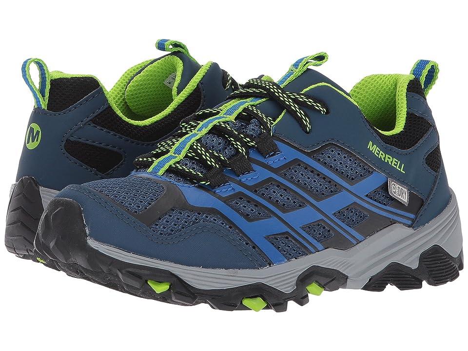 Merrell Kids Moab FST Low Waterproof (Little Kid) (Navy/Blue) Boys Shoes