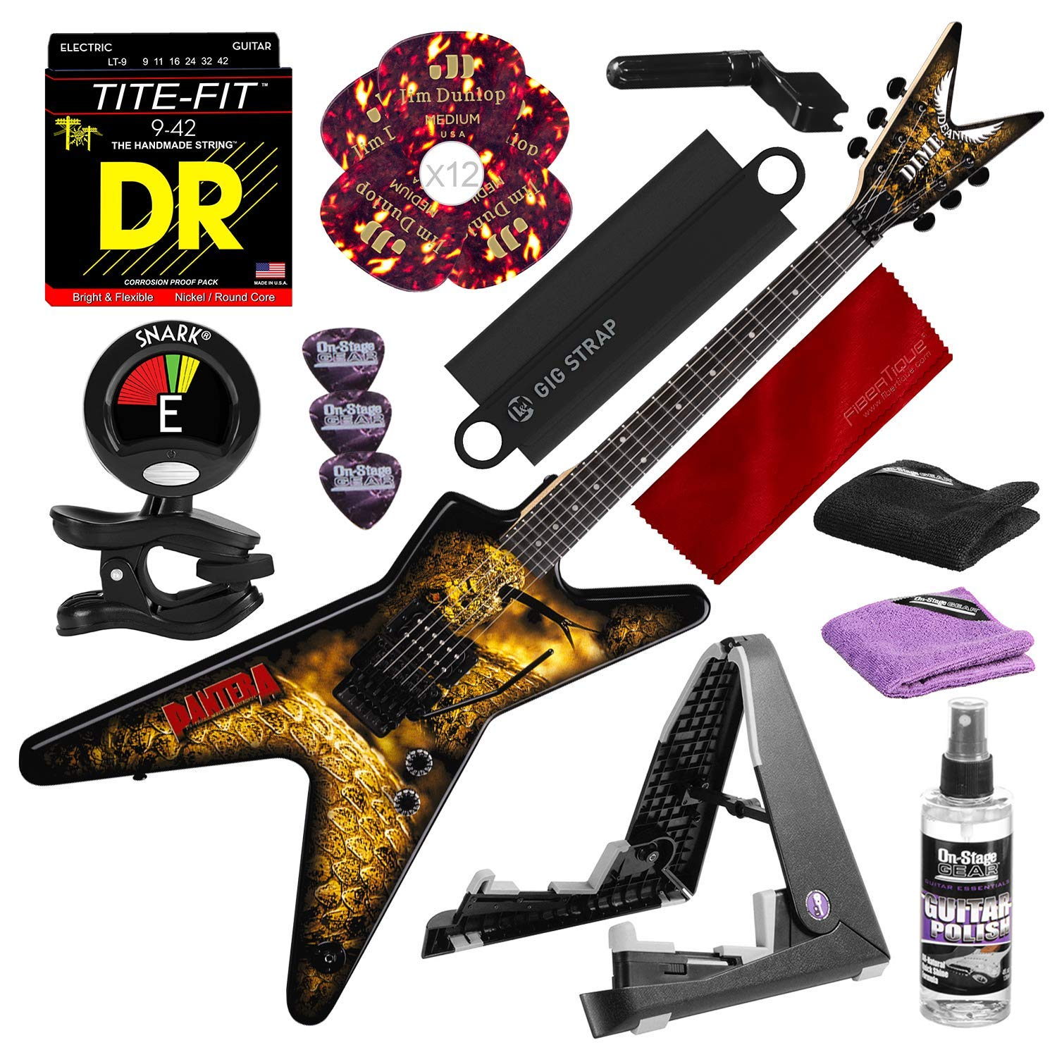 Cheap Dean Dimebag Pantera Southern Trendkill ML Electric Guitar with Guitar Stand Tuner Strings Picks and Complete Accessory Bundle Black Friday & Cyber Monday 2019