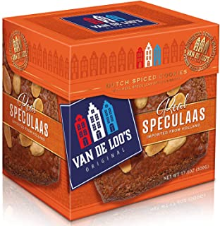 Van De Loo's Speculaas Spiced Dutch Cookie Box of 5 Cookies | aka Holland Speculoos Butter Cookies