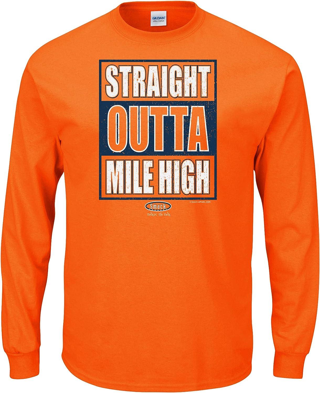 Sm-5X Straight Outta Mile High T-Shirt Smack Apparel Denver Football Fans