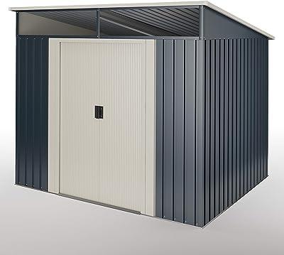 Stark Cobertizo Jardin, caseta Metalica Gris Antracita 2, 3m2-121x195x196cm Garantia 10 años: Amazon.es: Jardín