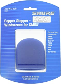 Shure A58WS-BLU Foam Windscreen for All Shure Ball Type Microphones, Blue