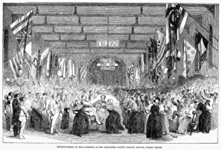 Insane Asylum 1853 Nentertainment For The Patients At The Middlesex County Lunatic Asylum Colney Hatch England Wood Engraving English 1853 Poster Print by (24 x 36)