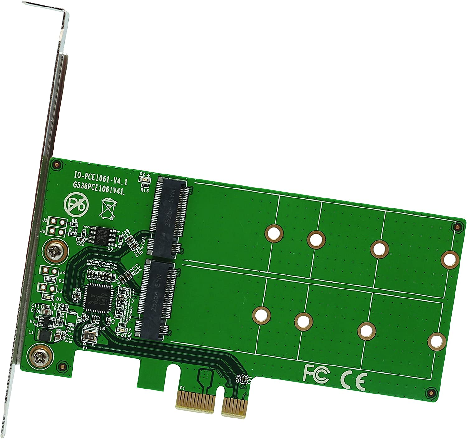 2 Port Directly managed store M.2 SSD to PCI-e x1 key or B SI-PEX40115 B+M Ranking TOP19 adapter