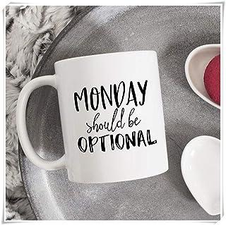 WTOMUG Monday Should Be Optional Mug, Coworker, Birthday, Sarcastic Coffee Mug, Funny Mug, Monday Mug, Office Mug, For Wor...