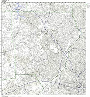 Working Maps Cobb County, Georgia GA Zip Code Map Not Laminated