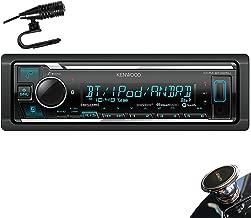 Kenwood KMM-BT325U Single DIN Bluetooth SiriusXM Ready In-Dash Digital Media Car Stereo Receiver w/ Spotify Control + Gravity Magnet Holder