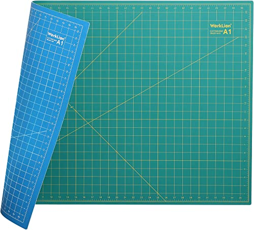 "WORKLION 24"" x 36"" Large Self Healing PVC Cutting Mat, Double Sided, Gridded Rotary Cutting Board for Craft, Fabric, ..."