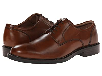 Johnston & Murphy Tabor Dress Plain Toe Oxford (Tan Calfskin) Men