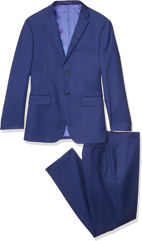 Kitonet Men's 2-Piece Box Check Slim Fit Suit