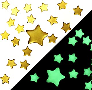 Homey Product Super Bright Glow in The Dark Stars - Self Adhesive - Pack of 100 - Big and Small Star Decor for Kids Children and Toddler Playroom Wall and Ceiling Room Decorations Stickers