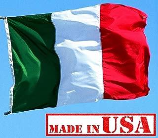 US Flag Factory - 3x5 FT Italy Italian Flag (Sewn Stripes) Outdoor SolarMax Nylon - Made in America