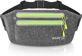 AGPTEK bältesväska höftväska lövväska för mobiltelefon iPhone pengar nyckel löparbälte med stor kapacitet midjeväska Runni...
