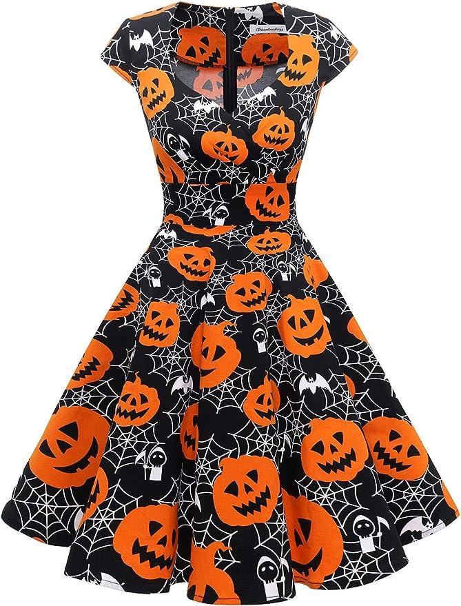 Easy Retro Halloween Costumes – Last Minute Ideas Bbonlinedress Women Short 1950s Retro Vintage Cocktail Party A Line Swing Dresses  AT vintagedancer.com