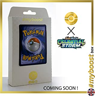 Mr. Mime-GX 156/168 Full Art - #myboost X Sun & Moon 7 Celestial Storm - Coffret de 10 Cartes Pokémon Aglaises