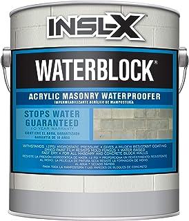 INSL-X AMW100009A-01 WaterBlock Acrylic Masonry Waterproofer Paint, 1 Gallon, White