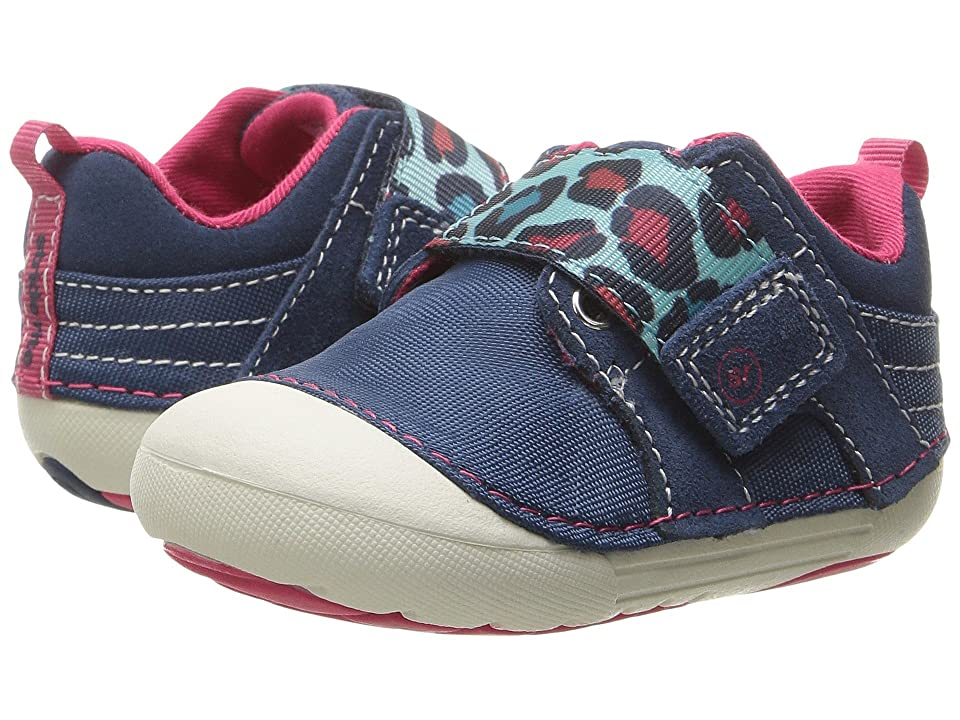 Stride Rite SM Cameron (Infant/Toddler) (Navy/Leopard) Girl
