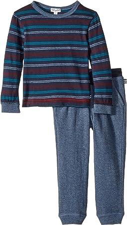 Yarn-Dyed Stripe Long Sleeve Set (Toddler)