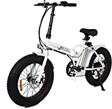 ECOTRIC Fat Tire Folding Electric Bike Beach Snow Bicycle 20