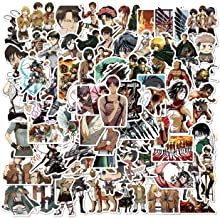 Attack On Titan Stickers 100PCS AOT Stickers Cool Anime Stickers Vinyl Waterproof Stickers for Teens Adults Laptop Water B...