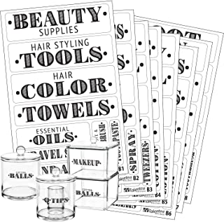 Talented Kitchen Farmhouse Bathroom Beauty Organization Labels – 72 Bathroom & Makeup Organization Preprinted Sticker. Water Resistant, Canister Labels. Jar Decals Bath Storage (Set of 72 – Bathroom)