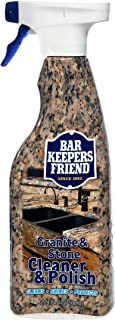 Bar Keepers Friend Granite & Stone Cleaner & Polish (25.4 oz) Granite Cleaner for Use on Natural, Manufactured & Polished Stone, Quartz, Silestone, Soapstone, Marble - Countertop Cleaner & Polish (1)