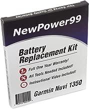 Best garmin nuvi 1350 battery replacement kit Reviews