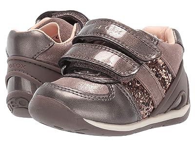 Geox Kids Each 30 (Infant/Toddler) (Smoke Grey) Girls Shoes