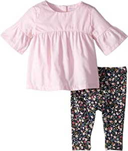 Shirred Top & Floral Leggings (Infant)
