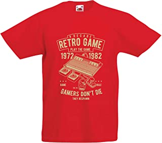 lepni.me Kids T-Shirt Retro Gaming Decade, They Respawn Gamers Don't Die