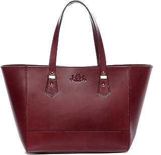 SID & VAIN Handtasche mit Langen Henkeln echt Sattel-Leder Trish groß Henkeltasche Schultertasche Ledertasche Damen