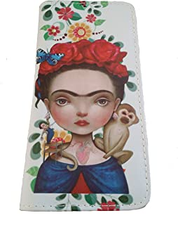 Frida Inspired Women's Purse, Wallet, and/or Matching Coin Purse - Off-white - One Size