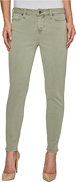 Devon Relaxed Ankle Skinny in Stretch Peached Twill in Shadow Green