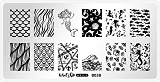 Whats Up Nails - B038 Lost at Sea Stamping Plate for Nail Art Design
