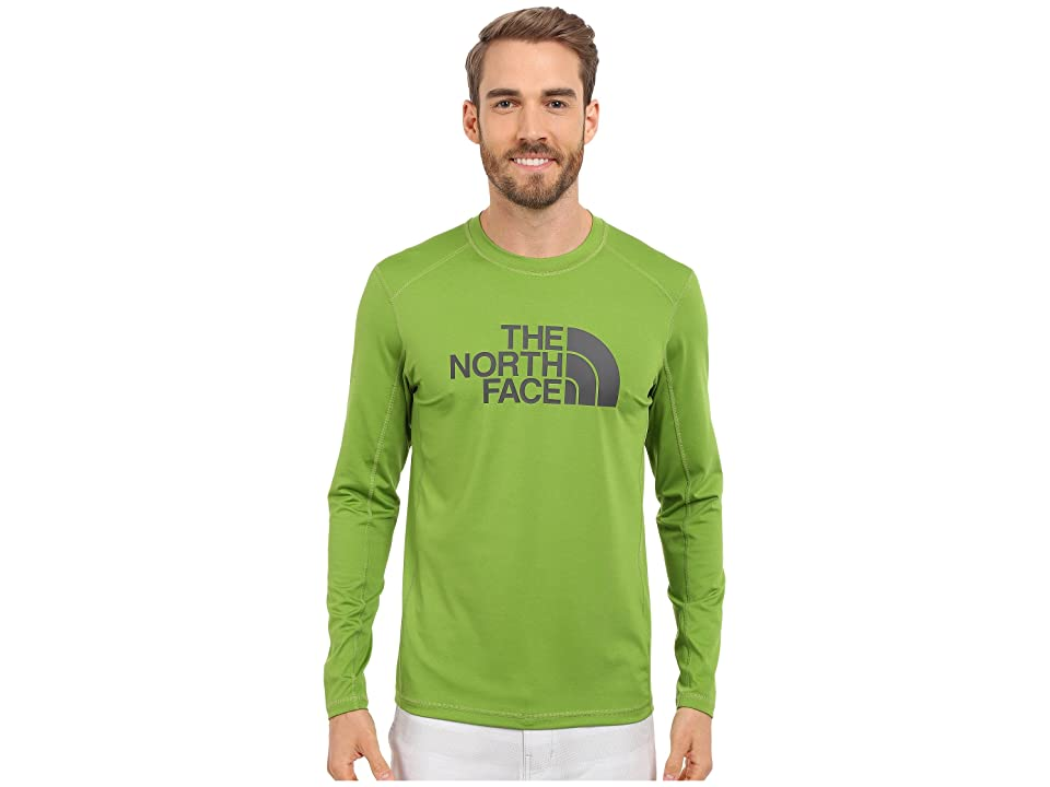 The North Face Long Sleeve Sink or Swim Rashguard (Vibrant Green/Asphalt Grey (Prior Season)) Men