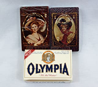 Olympia Beer Vintage 1970's White Case Playing Card Set