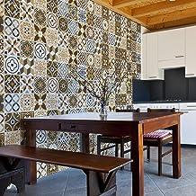 Walplus Verwijderbare zelfklevende muurkunst sticker vinyl woondecoratie DIY woonkamer slaapkamer keuken decor behang Azul...