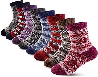 Children's Winter Thick Warm Soft Cute Crew Wool Socks For Kids Boys Girls 8 Pairs