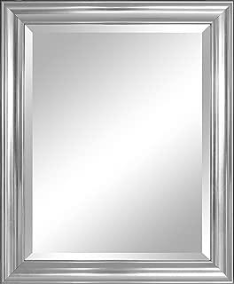 Alpine Mirror & Art Crackled Wall Mirror, Silver