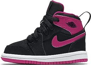 Nike Toddler Girl's Retro 1 Hightop Fashion Sneaker Black/Vivid Pink-White-Vivid Pink 4C