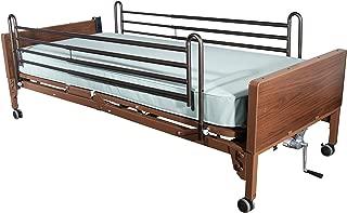 Drive Medical Delta Ultra Light Full Electric Bed with Full Rails and Foam Mattress, Model - 15033BV-PKG-2