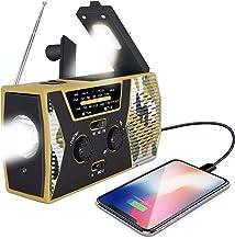 FORZA 2020 Emergency Solar Hand Crank Radio   Solar Powered NOAA Weather Radio   AM/FM, LED Flashlight, USB Charger   Hous...